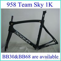 carbon road bike frame - Factory price K team sky blue carbon road bike frame bb30 bb68 glossy matte are available aslo sell