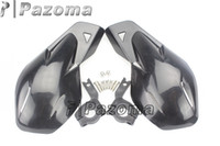 achat en gros de mount atv-Garde-mains noir Dirt Bike ATV MX Motocross Moto Garde-mains Handguards W / Mount Kit- Pazoma