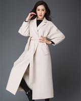 alpaca wool sale - Hot sale Newest original fashion Suit collar color wool long mink lady coat Extended winter alpaca fur coat