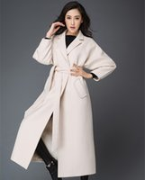 alpaca wool sale - Hot sale Newest original fashion Suit collar color wool long mink lady coat Extended winter alpaca fur coat
