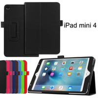 Wholesale Flip Litchi Grain PU Leather Stand Cover Case For iPad Mini Air Air Pro