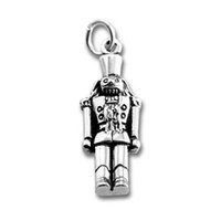 antique nutcracker - 100pcs zinc alloy antique silver plated single sided nutcracker charms with jump ring