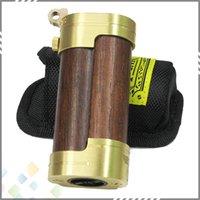 punk - Big Vapor Slug Mod Wood Mod Steel Punk Slug Mod New E Cigarettes Mechanical Mods For Battery Mech Mod E cig Cool Pattern DHL free