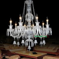 hand blown art glass - maria theresa modern crystal chandeliers Luxurious Crystal Chandelier living room indoor lighting hand blown glass lighting hotel chandelier