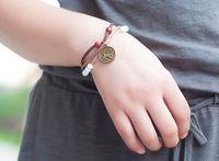 antique porcelain signs - 10pcs a new Designs Bracelet Antique Cross zodiac signs Knitting Bronze Charm Bracelets jewelry