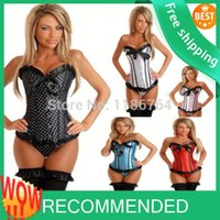 animal print dress uk - free pp New Sexy Bustier Corset Top Burlesque Basque Fancy Dress Corsets UK sexy lingerie walsonstyles