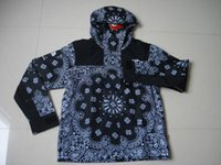 bandana embroidery - hot sale new Cooperation Bandana Mountain Parka jackets Windproof Paisley Jacket Coat Hip Hop Skate Sports Jacket red Navy