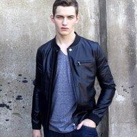 pelle pelle jackets - Fall plus size black pu leather jacket men coat jaqueta de couro masculino veste cuir homme veste cuir homme Giacca in pelle uomo