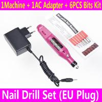 100v-240v professional electric nail drill - 1set bits rpm Professional Electric Manicure Machine Nail Drill art Pen Pedicure File Polish Shape Tool Feet Care Product