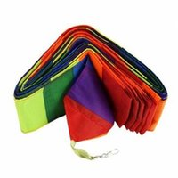 Wholesale 2015 Colorful M Super Nylon Rainbow Kite Tail Line Sports Kite Accessory