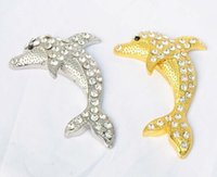 Wholesale Fashion D Metal Car Stickers Elephant Sharks Gecko Cobra Car styling Car Decoration And Retail Gold Silver