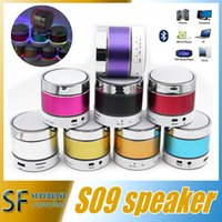 aluminum door seal - S09 Bluetooth Speaker Out door with LED of light Micro TF Card Call Function DHL No Logo with Retail Box