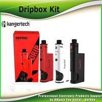 Wholesale Original Kanger Dripbox Starter Kit W with KangerTech Subdrip Tank ml Dripmod Box Mods genuine subvod mega kit DHL Free