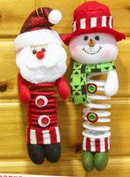 baby doll swings - Low price via EMS Christmas hanging dolls Swing spring feet Xmas dolls cute santa claus snowman Kids baby new year party gift T6023