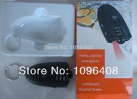 Wholesale Accurate Breath Alcohol Tester Breathalyzer Flashlight with keychain DHL