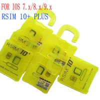Wholesale Newest Rsim10 R SIM R SIM plus Unlock Card for iphone s plus s iOS9 X X SPRINT SB AU direct use