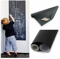 PVC wall board - 105PCS CM Removable Vinyl Chalkboard Wall Stickers Mini PVC Blackboard Black Chalk Board Sticker With Retail Packaging