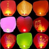 Wholesale Heart shaped lanterns lamp manufacturers flame retardant fire safety type flying light stall selling