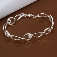 real silver jewelry - 2014 New Fashion women s Real Pure Sterling Silver brance Bracelet silver Jewelry best gift LKH325