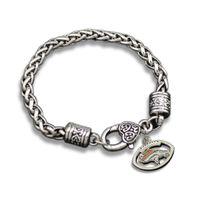 antique rope making - 10pcs New Hand Made Antique Silver Plated Enamel Denver Broncos Sports Team Charms Link Chain Bracelets For Men