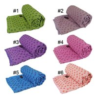 Wholesale Yoga Mat Towel Non slip Yoga Blankets Silicone Nubs Yoga Towel Environmental Anti slip Yoga Towels CM Network Package New Arrival