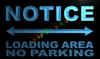 area advertising - LN391 TM Notice Loading Area no Parking Neon Light Sign Advertising led panel jpg