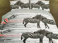 Wholesale 3D Bedding Sets Zebra Pattern Duvets Set Bedroom Queen Size Bed in A Bag Sheets Duvet Cover Bedsheet Home Texiles