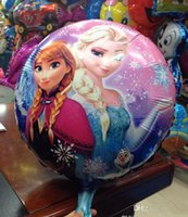 Wholesale Frozen Anna Elsa Sets cmx45cm bubble hydrogen balloon balloons party decoration foil balloons