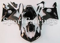 Wholesale Plastics Fairings For Yamaha YZF600 YZF R6 Injection ABS Fairings Motorcycle Fairing Kit Bodywork Cowling Black Matt