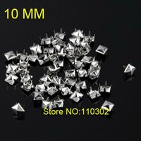 craft shoes - Hot selling mm Silver Metal Pyramid Stud Spot Punk Rock Nailheads Shoes Spikes Leather Craft