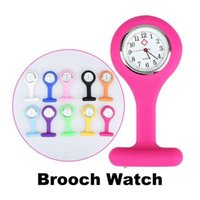 Wholesale Nurse Medical Watch Silicone Clip Pocket Watches Colorful Fob Tunic Watches Doctor Watch Silicone Cover Nurse Watch