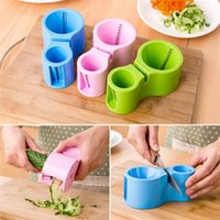 Wholesale 2016 Spiral Cutter Sharpener Multifunction Double headed Grater Fruit Vegetable Cutter Benliner Knife Sharpener Tool With Packing