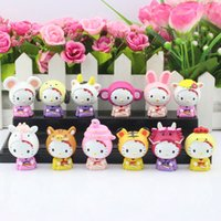 china toys - set Hello Kitty pvc toy Chinese zodiac KT toys twelve animals style china constellation