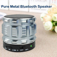 Wholesale Mini Portable Metal Steel Hifi Stereo Bluetooth Wireless Speaker PC Sound Box Altavoz Altavoces Support SD TF Card MP3 Player