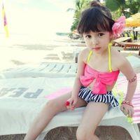 Girl Two-piece 8T-9T Summer Baby Swimsuit Bikini Infantil Swim Bathing Suit Skirt Swimwear Straps Plaid Printed For Girls Kids ruffled swimwear swimsuit NN-078