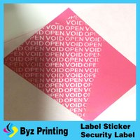 Wholesale Custom Red Tamper Evident VOID Labels Printed With Sequence Numbers Warranty VOID If Opened or Removed Vinly Labels
