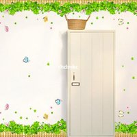 animal bushes - Wall stickers home decoration Butterfly bush clover entrance hallway baseboard waist corner three generations of wall stickers wall stickers