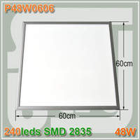 Wholesale High power x600mm W Square led panel light Frosted cover with hanged wire LED ceiling lamp Metal Frame