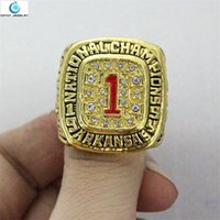 arkansas stone - Replica Arkansas Razorbacks SEC National Championship ring GOHOGS baseball fan Enamel Crystal Gold Pleated Ring Men Jewelry