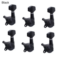 Wholesale L Black Locked String Guitar Tuning Pegs keys Tuners Machine Heads for strat Style Electric Guitar MU0806