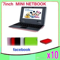 Wholesale DHL original inch Mini Netbook WIFI android Laptop mb GB flash VIA8880 Ghz notebook ZY BJ