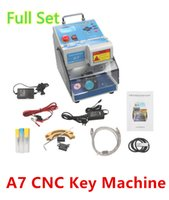 Wholesale DHL CNC A7 Key Cutting Machine cnc key Duplicate Equipment Brand New CNC Key Device with Cutter Genuine SoftWare Check Teeth