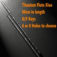 Wholesale Titanium Metal Flute Xiao cm G F Key Xiao Flute Transverse Flute not Dizi Professional Metal Flauta Xiao Self defense Weapon
