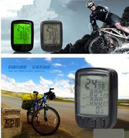 Wholesale Bicycle Bike Cycling Computer Speedometer Odometer Green LED Backlight