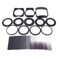 camera filter lens adapter - Cd Disc New Arrival Rushed Nd gnd Square Camera Lens Filter Set Adapter Rings Holder lens Hood Kit Carrying Pouch for Cokin P