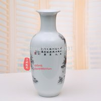 Wholesale Jingdezhen ceramics living room modern and stylish furnishings Decoration Continental snow white vase