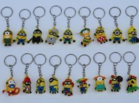 Cheap 2015 Despicable Me Minions Movie Character Figures Doll Toys Set Keychain Cute key ring LJJH375 2000PCS