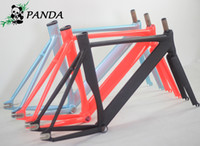 track bike frames - Top Quality CM Smooth Welding Track Bike Fixed Gear Bicycle Frame Frame and fork together