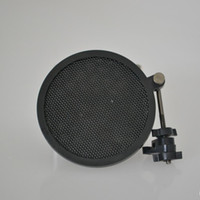 Wholesale 2016 new and professional Mini POP filter with Colorful Package Box used for condenser microphone