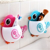 bamboo organizer tray - Creative Bird Pattern Suction Cup Toothbrush Holder House Storage Tool lovely Bandeja Tray